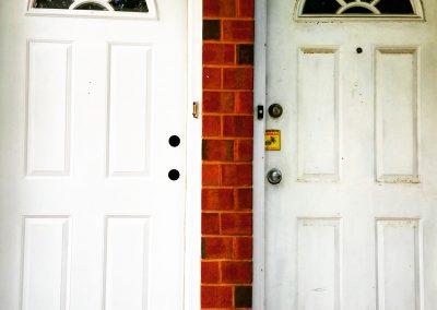 exterior door painted