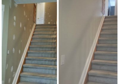 staircase painted in Ottawa